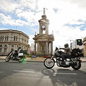 Invercargill & Bluff: Burt Munro Challenge 2019 - Troopers War Memorial - Southland, New Zealand