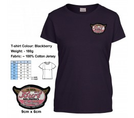 Ladies Blackberry Tee with patch