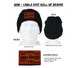 2018 - Cable Knit Roll Up Beanie