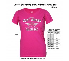 2018 - The Great Burt Munro Ladies Tee